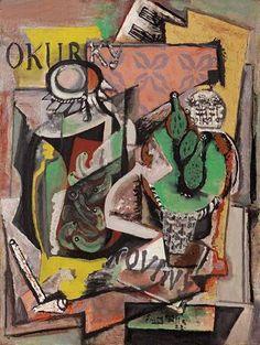 Obraz Emila Filly Zátiší s knihou, který bude na své večení aukci dražit Adolf…