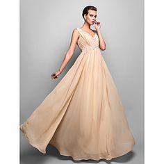 Sheath/Column+V-neck+Floor-length+Chiffon+Evening+Dress+(742585)+–+USD+$+199.99