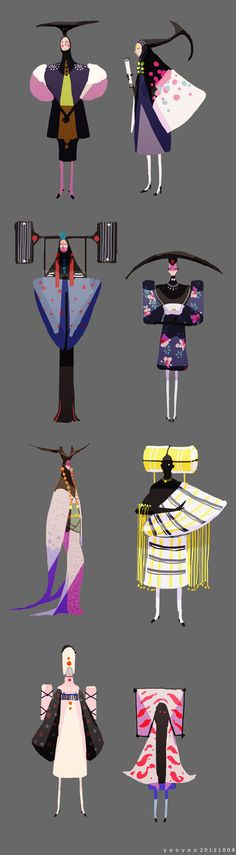 Character Design - SHANLI by yao yao, via Behance