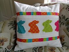 Ameroonie Designs: Bunny Hop Pillow  So Cute Spring and Easter
