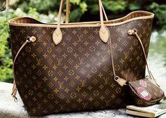 Louis Vuitton Neverfull Monogram MM #bags #fashion