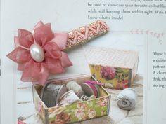 Orangza Flower Lace Ribbon Hair Clip Pink from Little Heartwarming by DaWanda.com