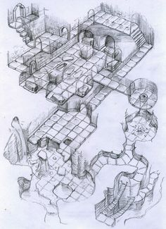 free cutaway map dungeon view with crypt and sinkhole map cartography | Create your own roleplaying game material w/ RPG Bard: www.rpgbard.com | Writing inspiration for Dungeons and Dragons DND D&D Pathfinder PFRPG Warhammer 40k Star Wars Shadowrun Call of Cthulhu Lord of the Rings LoTR + d20 fantasy science fiction scifi horror design | Not Trusty Sword art: click artwork for source