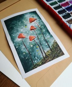 Joanna Piotrowicz art - watercolor painting of magic mushrooms, woodlnad theme. Forest Drawing, Forest Painting, Forest Art, Magical Forest, Dark Forest, Mushroom Paint, Mushroom Drawing, Watercolor Paintings Nature, Watercolor And Ink