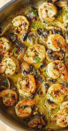 Shrimp Recipes For Dinner, Shrimp Recipes Easy, Seafood Dinner, Fish Recipes, Easy Dinner Recipes, Pasta Recipes, Easy Meals, Cooking Recipes, Salmon Recipes