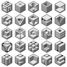 cube design elements set stock vector art 21417250 - iStock