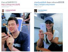 Monchele taking pictures to each other