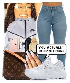 """nikkkkkkkeeee"" by princessjolie ❤ liked on Polyvore featuring Gucci, NIKE, Stila, Urban Outfitters, Beats by Dr. Dre, Michael Kors and Louis Vuitton"