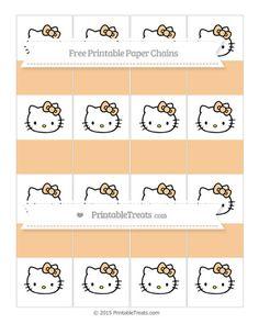 Free Pastel Light Orange  Hello Kitty Paper Chains