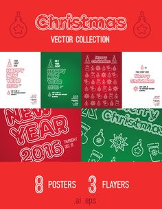 Christmas Vector Collection by Levit_Ilya on Creative Market