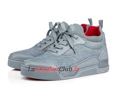 c6aa9ba70ed Christian Louboutin Aurelien Flat Chaussures Officiel Basket Pas Cher Pour  Homme Bleu 3170921U298 - 3170921U298 -