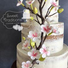 Cherry blossom wedding Cherry Blossom Wedding, Sweet Treats, Birthday Cake, Cakes, Desserts, Food, Tailgate Desserts, Sweets, Deserts