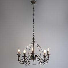 Candelabro ZERO BRANCO 5 bronce envejecido #lamparas #decoracion #iluminacion