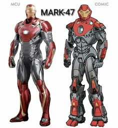 All MCU Ironman Suits & comparison with Comic suits. Marvel Comics, Heros Comics, Marvel Comic Universe, Marvel Heroes, Marvel Avengers, Iron Man Art, Super Anime, Marvel Costumes, Ironman