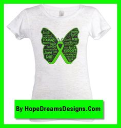Beautiful Lymphoma Butterfly design with powerful words on shirts and gifts by hopedreamsdesigns.com
