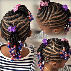 Little Girl Braid Styles, Little Girl Braid Hairstyles, Toddler Braided Hairstyles, Childrens Hairstyles, Black Kids Hairstyles, Kid Braid Styles, Little Girl Braids, Girls Natural Hairstyles, Braids For Kids