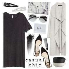Casual Chic by tropicalcraze on Polyvore featuring мода, Zara, Jimmy Choo, Balenciaga, Forever 21, NARS Cosmetics, CB2 and monochrome