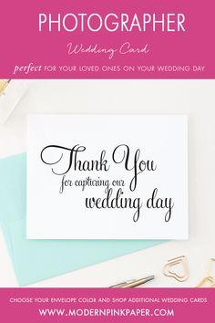 Thank you for capturing our wedding, Vendor thank you cards, Photographer thank you cards