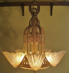 exquisite 5 light art deco lightolier slip shade dome stylux chandelier ceiling light fixture lamp i have one just like this beautiful lighting fixtures