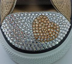 How to Crystallize a Swarovski Heart on Converse Trainers | Crystal and Glass Beads