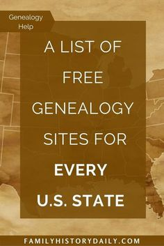 Free Genealogy Research Sites for Every Single U. State Search for your ancestors on free state research sites.Search for your ancestors on free state research sites.
