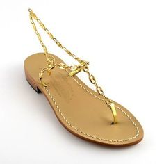 It was 1946 when Amedeo Canfora opened his sandal shop on the Via Camerelle on Capri. Among his glamorous fans over the years were Sophia Loren, Princess Grace and Jacqueline Kennedy Onassis, who often wore a chain-strap style. This year, to mark the 70th anniversary of the original Capri sandal, the company has reissued a number of styles. Available in gold, rose gold and silver, they're as fabulous now as they were then.