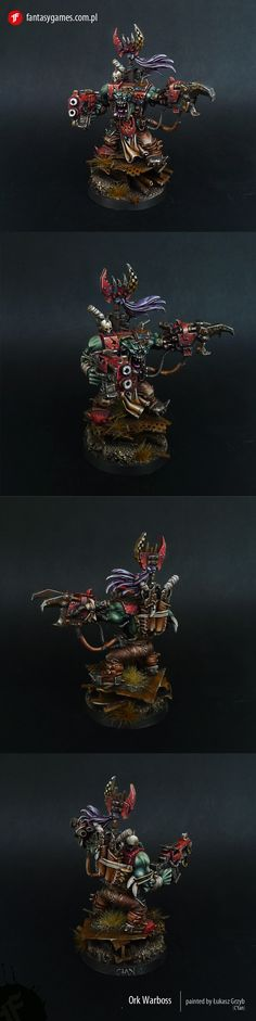 Beautifully done warboss from the same painter. They're from Poland...but as you can see, they love their figures... Man I'm living in the wrong town on the wrong side of the world.. lol