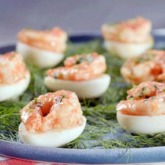 Katie~Remoulade Deviled Eggs with Pickled Shrimp Recipe from Food Network, MUST TRY! Anxious to taste the pickled shrimp. Egg Recipes, Shrimp Recipes, Appetizer Recipes, Cooking Recipes, Shrimp Appetizers, Recipies, Appetizer Party, Appetizer Dishes, Yummy Appetizers