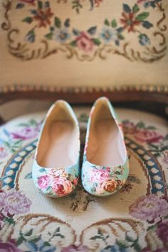 We love a patterned flat to add some spunk to a bridesmaids (or bridal!) dress!