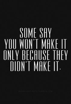 Don't always listen to others!