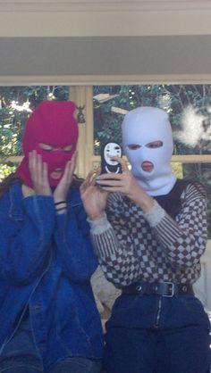 balaclavas Sister Wallpaper, Bad Girl Wallpaper, Bff Goals, Couple Goals, Gangster Girl, Aesthetic Photography Grunge, Mask Girl, Bad Girls, Baddies