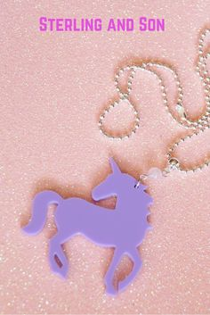 Unicorn necklace / Kawaii / Fairy Kei / Rose Quartz Necklace - only at www.sterlingandson.etsy.com