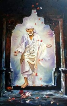 Artist Anurag Swami's Sai Baba V Painting Online. White oil Painting by Anurag Swami on Canvas Board, Realistic based on theme Collective Art. Sai Baba Pictures, God Pictures, Indian Gods, Indian Art, Sai Baba Miracles, Sai Baba Hd Wallpaper, Shiva Wallpaper, Shirdi Sai Baba Wallpapers, Saints Of India