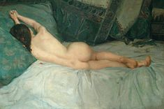Nude Painting - Sleeping Naked Woman by Antoine Raynolt