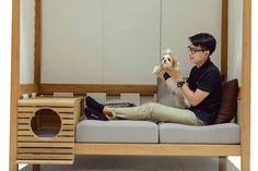 Modular Sofa Integrating a Pet Compartment – Fubiz Media
