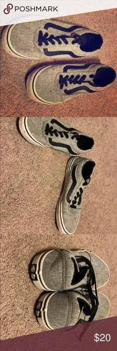 Vans Heather grey Shoes Lightly used Vans, boys size youth but fit as a 6 6 womens. Lightly used, good condition! Grey Shoes, Vans Shoes, Shoes Sneakers, Used Vans, Heather Grey, Gray Color, Youth, Boys, Fit