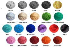 Super Chunky 100% Merino Wool, White colors