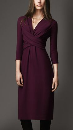 Burberry London Twist Front Jersey Dress