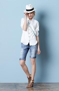 Halogen® Shirt & Mavi Jeans Bermuda Shorts