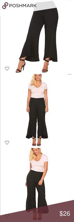 Women Plus Size Black /& Gold Drape Checkered Pants Leggings 14//16 18//20 22//24