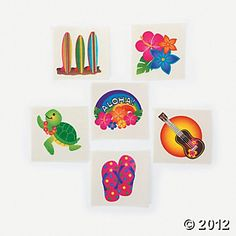 Tropical glitter tattoos