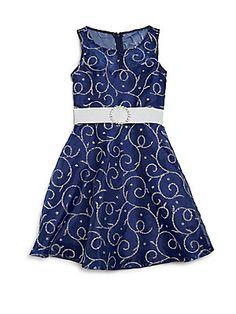 Un Deux Trois Girl's Beaded Dress