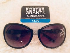 099a37a3e3 Foster Grant Women s Latte Black Lined Bifocal Sunglasses Sun Readers +2.00