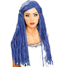 Corpse Bride Wig Includes a wig of yarn twist strands. One size fits most adults and children. Remember a wig cap to hold in your own hair. Please Note: due to a change by the manufacturer, wig may va Costume Wigs, Costume Shop, Costume Makeup, Disney Costumes, Cool Costumes, Halloween Costumes, Costume Ideas, Skeleton Costumes, Cartoon Costumes