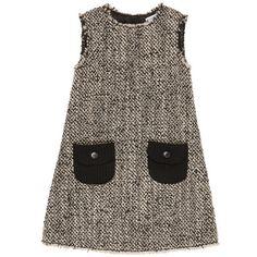 Dolce & Gabbana - Sleeveless mottled black woollen dress - 40739