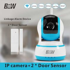 Wireless Security Camera + 2 Door Window Ssensor Alarm Home Smart IP Camera Wifi Mobile Remote Control Night Vision BW13B