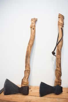 Trade Axes | Village Arts Gallery Axe Handle, Survival Essentials, Maori Designs, Maori Art, Bone Carving, Indigenous Art, Biking, Weapons, Art Gallery
