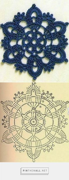 Transcendent Crochet a Solid Granny Square Ideas. Inconceivable Crochet a Solid Granny Square Ideas. Mandala Au Crochet, Crochet Flower Squares, Crochet Snowflake Pattern, Crochet Motif Patterns, Crochet Snowflakes, Crochet Diagram, Crochet Chart, Thread Crochet, Crochet Doilies