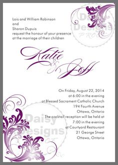 Downloadable Designs For Wedding Invitation Inserts