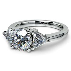 Brilliant sparkle for your one and only... the Trillion Diamond Engagement Ring in sleek, sturdy Platinum. The perfect gift to represent a lifetime of ‪beauty and ‎love!  http://www.brilliance.com/engagement-rings/trillion-diamond-ring-platinum-3/4-ctw